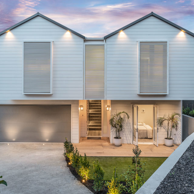 outdoor electrical lighting on large residential house